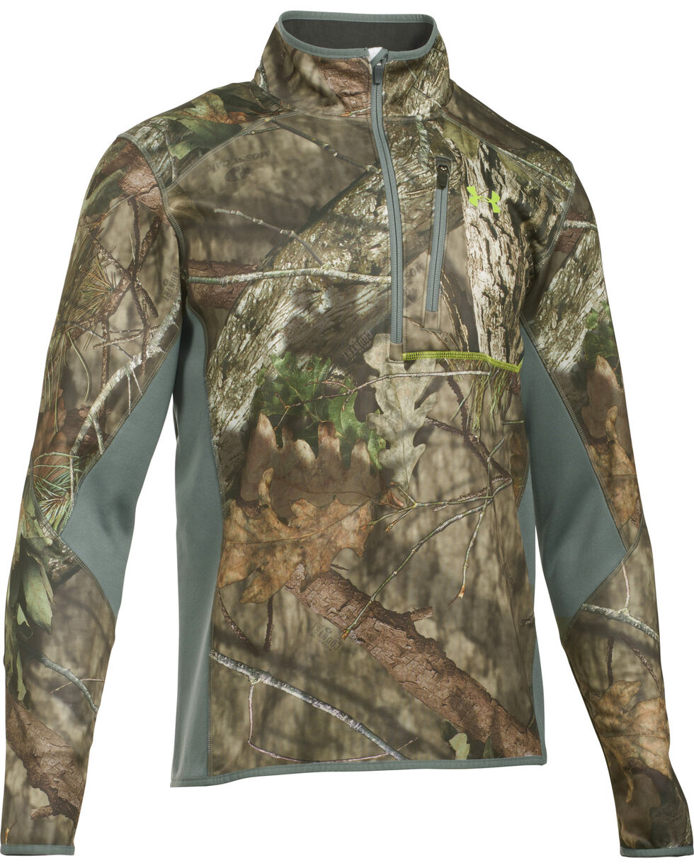 Under Armour Scent Control Armour Fleece 2.0 1/4 Zip Jacket, Mossy Oak, hi-res