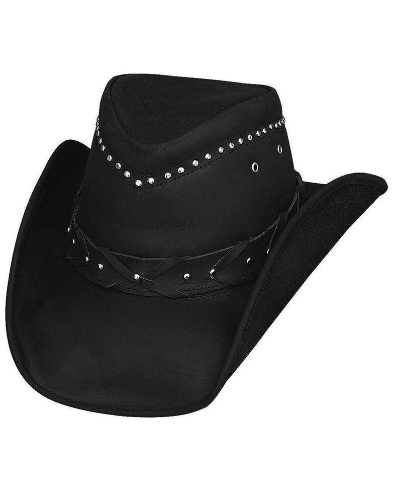 Bullhide Men's Burnt Dust Leather Hat, Black, hi-res