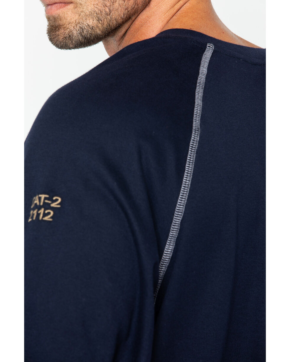 Cinch WRX Men's FR Cotton Long Sleeve Raglan Henley, Navy, hi-res