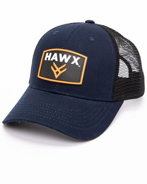 Hawx Men's Navy Rubber Patch Trucker Cap, Navy, hi-res