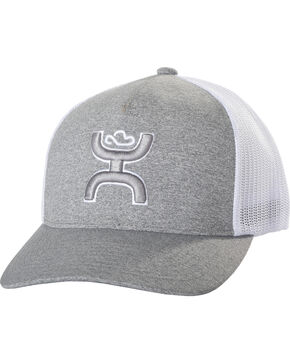 HOOey Men's Coach Flexfit Mesh Trucker Cap, Grey, hi-res