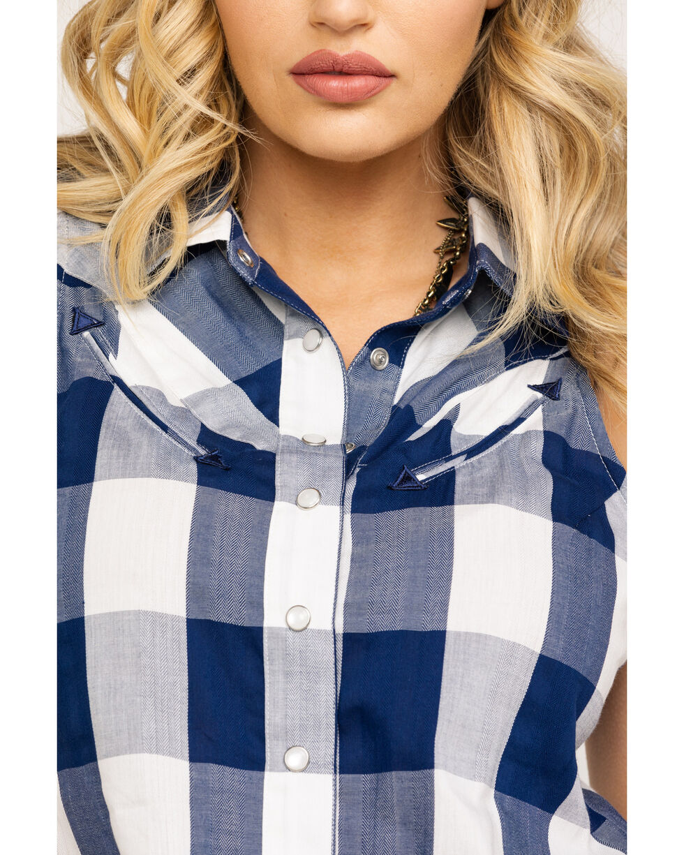 Idyllwind Women's Smile For Me Top, Navy, hi-res