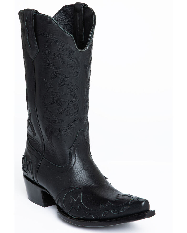 Moonshine Spirit Men's Output Western Boots - Snip Toe, Black, hi-res
