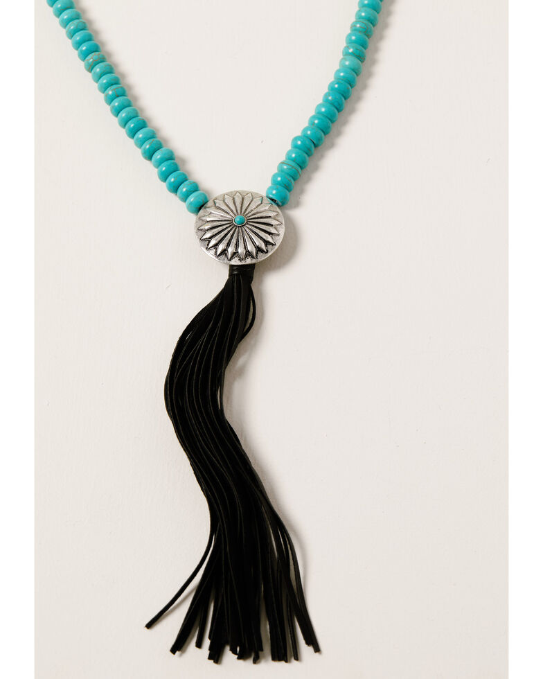 Shyanne Women's Midnight Sky Layered Y Tassel Necklace, Silver, hi-res