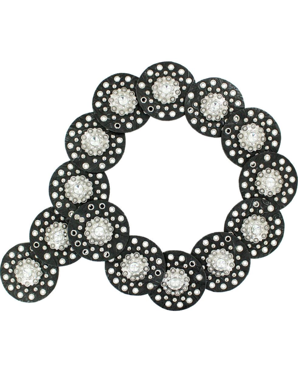 Nocona Women's Concho Waist Belt, Black, hi-res