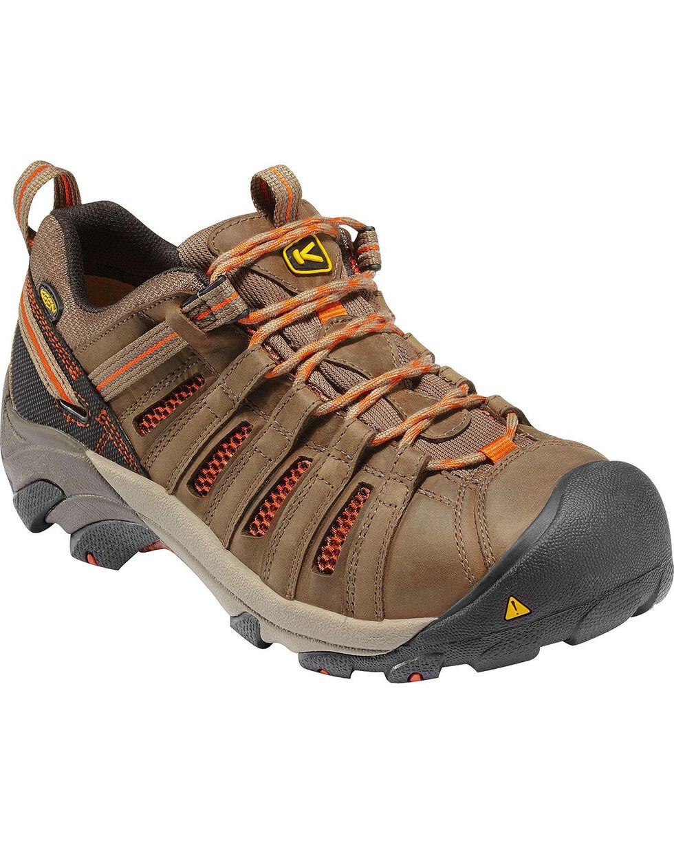 Keen Men's Flint Low Steel Toe Shoes, Forest Green, hi-res