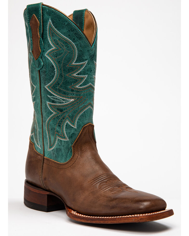 Shyanne Women's Stryke Western Boots - Wide Square Toe, Brown/blue, hi-res