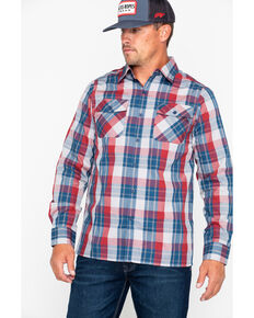 Browning Men's Powell Plaid Long Sleeve Shirt , Blue, hi-res