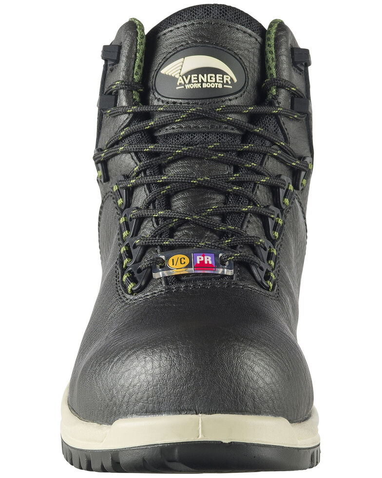 Avenger Men's Breaker Work Boots - Composite Toe, Black, hi-res