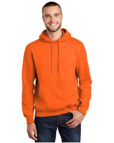 Port & Company Men's Orange Essential Fleece Hooded Work Sweatshirt , Orange, hi-res
