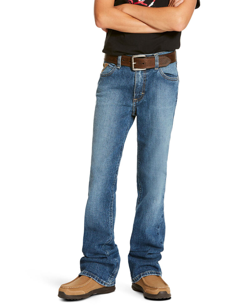 Ariat Boys' B5 Brandon Stretch Denim Slim Straight Jeans , Blue, hi-res