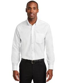 Red House Men's White 3X Pinpoint Oxford Non-Iron Shirt - Big, White, hi-res