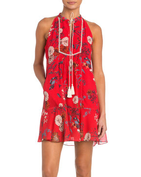 Miss Me Women's Hooked On You Halter Dress, Red, hi-res