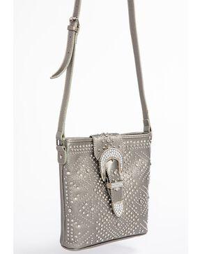 Shyanne Women's Bling Buckle Crossbody Bag, Ash, hi-res