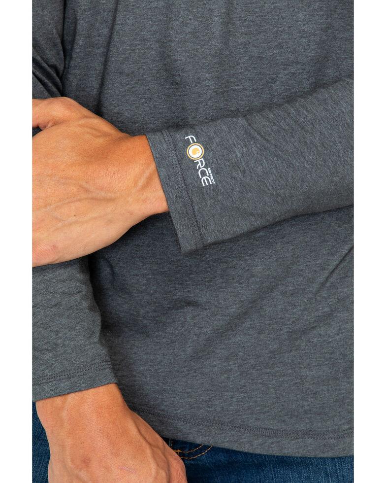 Carhartt Force Long Sleeve Work Shirt, Dark Grey, hi-res