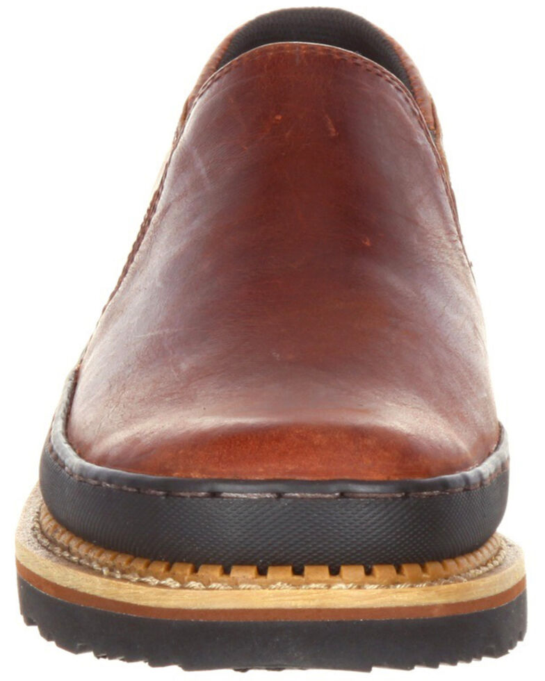 Georgia Boot Men's Giant Twin Gore Work Shoes - Round Toe, Brown, hi-res