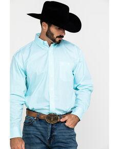 George Strait by Wrangler Men's White Paisley Long Sleeve Western Shirt , White, hi-res