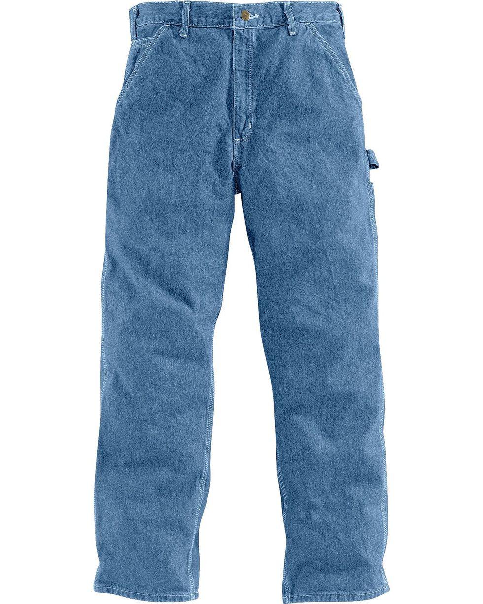 Carhartt Men's Signature Denim Dungaree Work Pants, Stonewash, hi-res