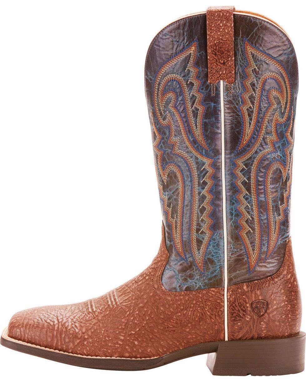 Ariat Men's Heritage Latigo Grey Bullhide Cowboy Boots - Square Toe, Grey, hi-res