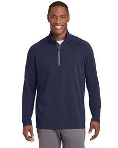 Sport Tek Men's Navy 3X Sport Wick Textured 1/4 Zip Pullover Work Sweatshirt - Big , Navy, hi-res