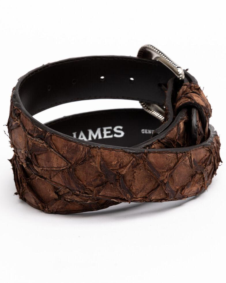Cody James Men's Brown Pirarrcu Exotic Belt , Brown, hi-res