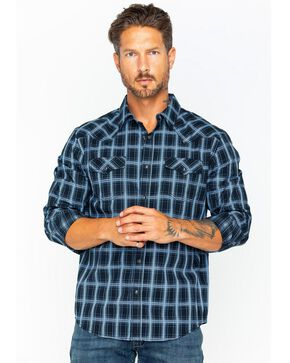 Cody James Men's Good Vibes Med Plaid Long Sleeve Shirt , Black, hi-res