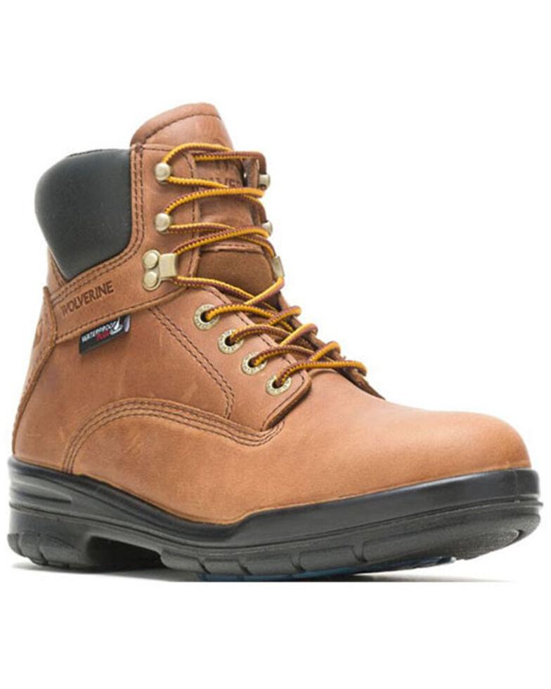 Wolverine Men's Copper Durashocks Waterproof Work Boots - Steel Toe, Distressed Brown, hi-res
