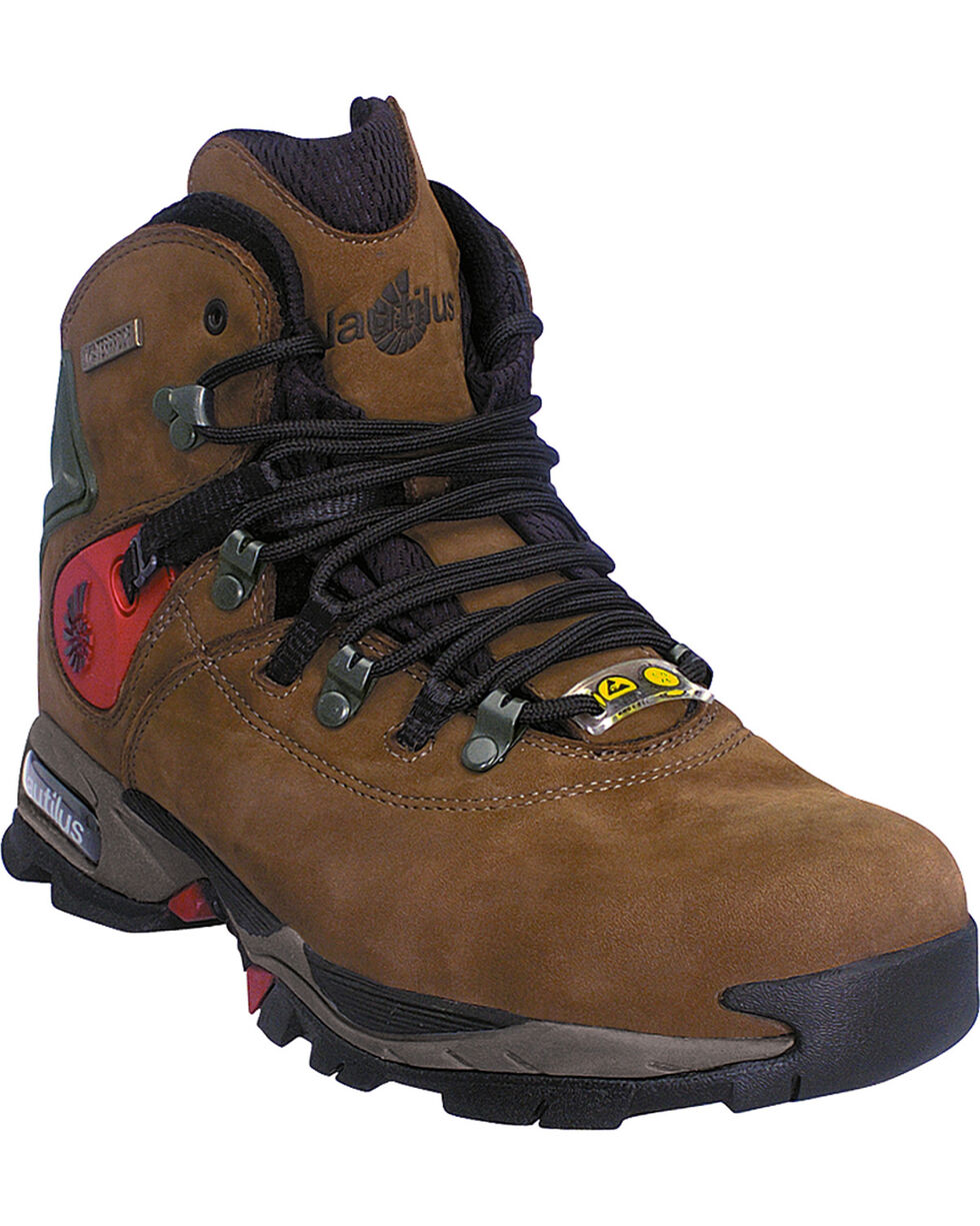 Nautilus Men's Steel Safety Toe ESD Work Boots, Moss, hi-res