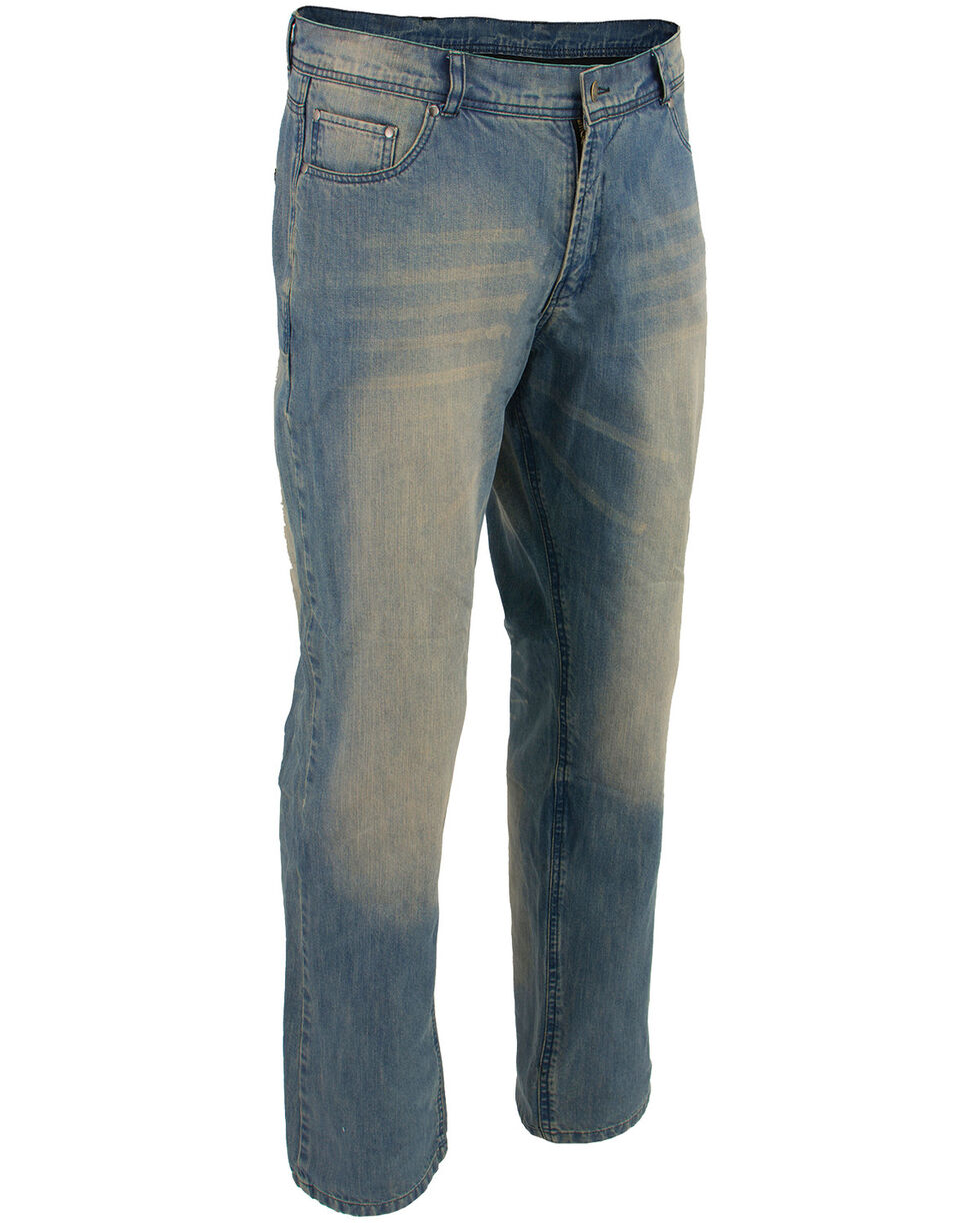 "Milwaukee Leather Men's Blue 32"" Denim Jeans Reinforced With Aramid - XBig, Blue, hi-res"