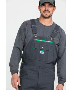 Dickies Men's Charcoal Liberty Duck Bib Work Overalls , Charcoal, hi-res