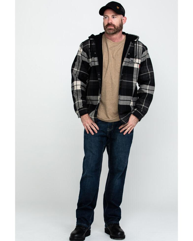 Wolverine Men's Grey Buckshaw Plaid Bonded Hooded Shirt Work Jacket , Grey, hi-res