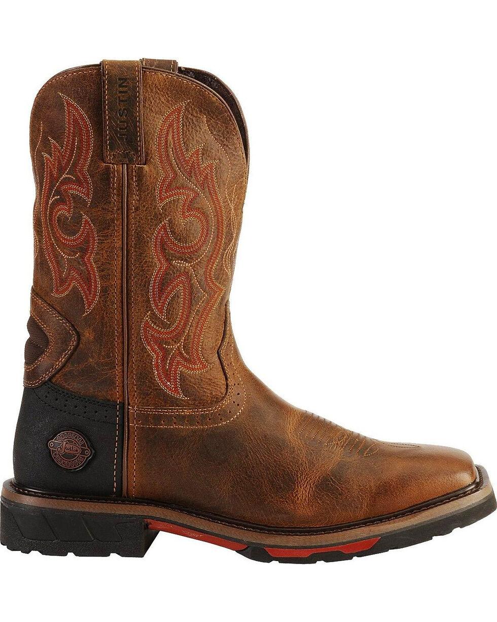 Justin Men's Hybred Work Boots, Tan, hi-res