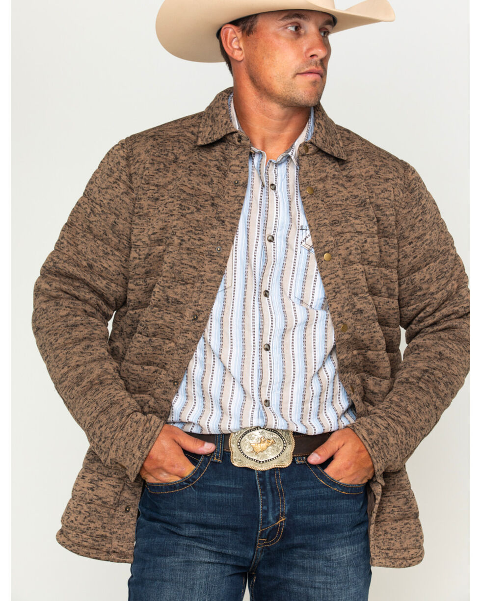 Cody James Men's Matterhorn Quilted Jacket, Brown, hi-res