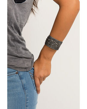 Shyanne Women's Eclipse Multi-Stud Pewter Cuff, Silver, hi-res