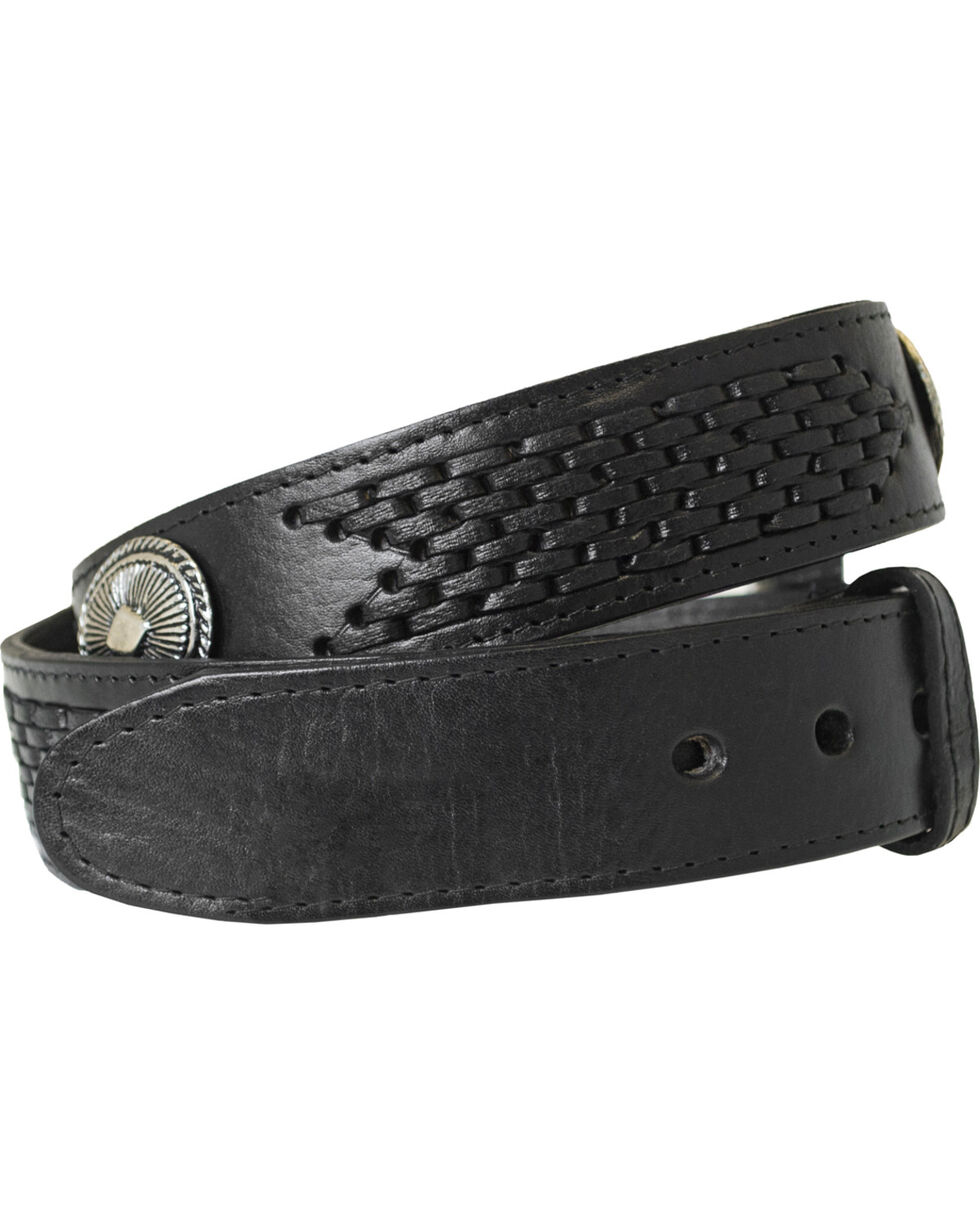 Western Express Men's Woven Western Belt - Big, Black, hi-res