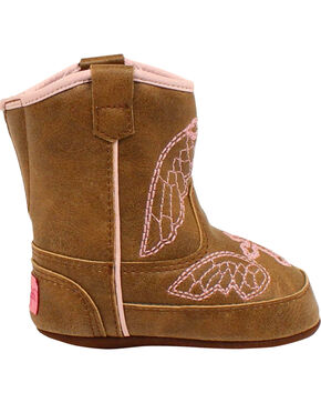 Blazin Roxx Gracie Baby Bucker Boots, Brown, hi-res