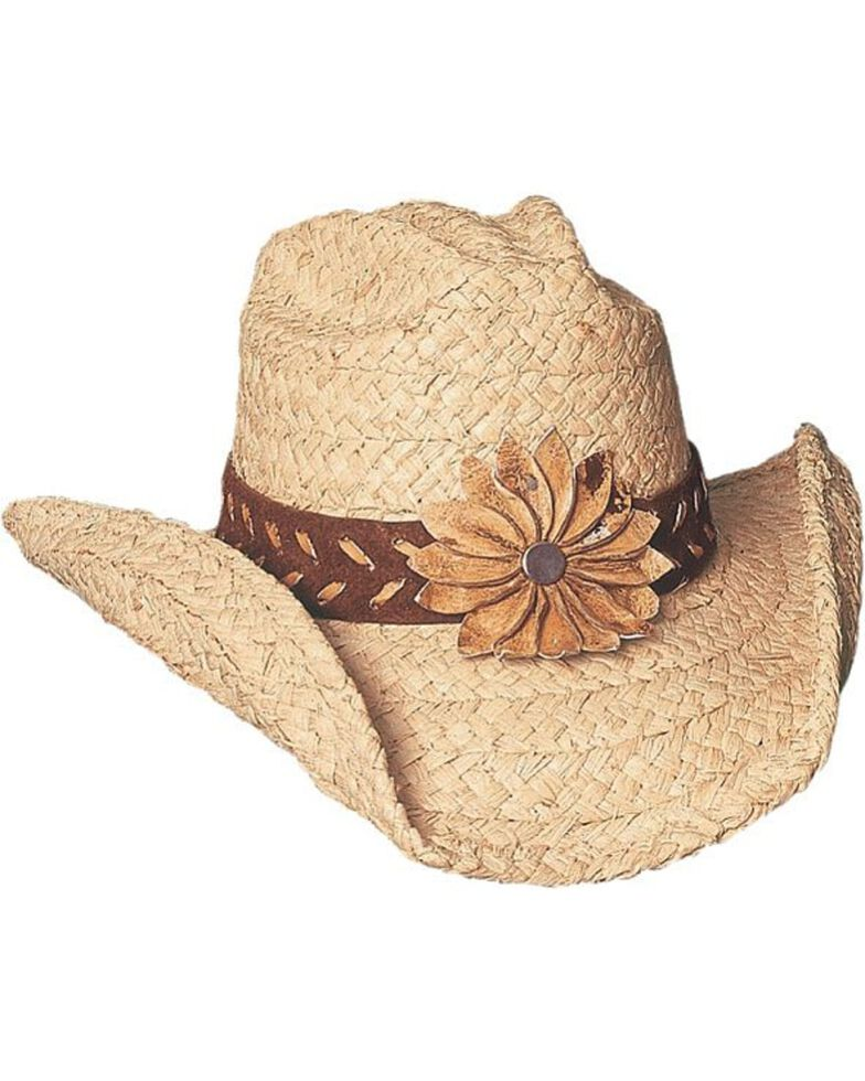 Bullhide Women's Sunset Straw Hat, Natural, hi-res