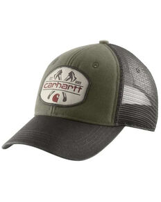 Carhartt Men's Bear Lake Logo Cap , Green, hi-res