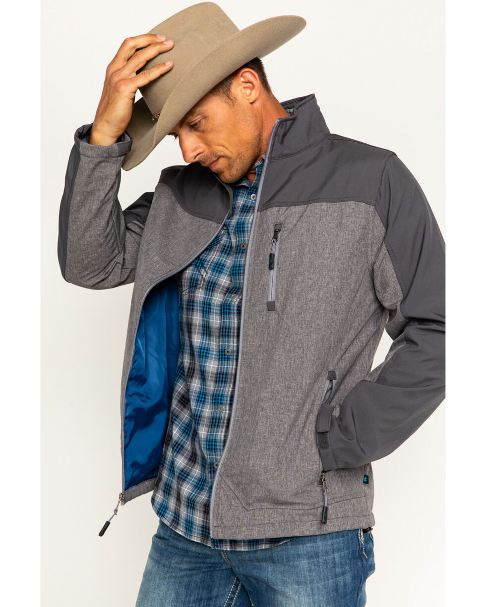 Cody James Men's Flannel Lined Softshell Jacket - Big & Tall, Grey, hi-res