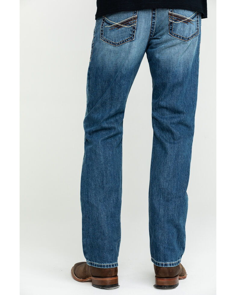 Ariat Men's M1 Riverbend Vintage Stackable Slim Straight Jeans , Blue, hi-res