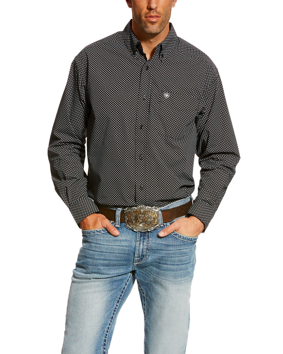 Ariat Men's Carolla Print Long Sleeve Western Shirt, Navy, hi-res