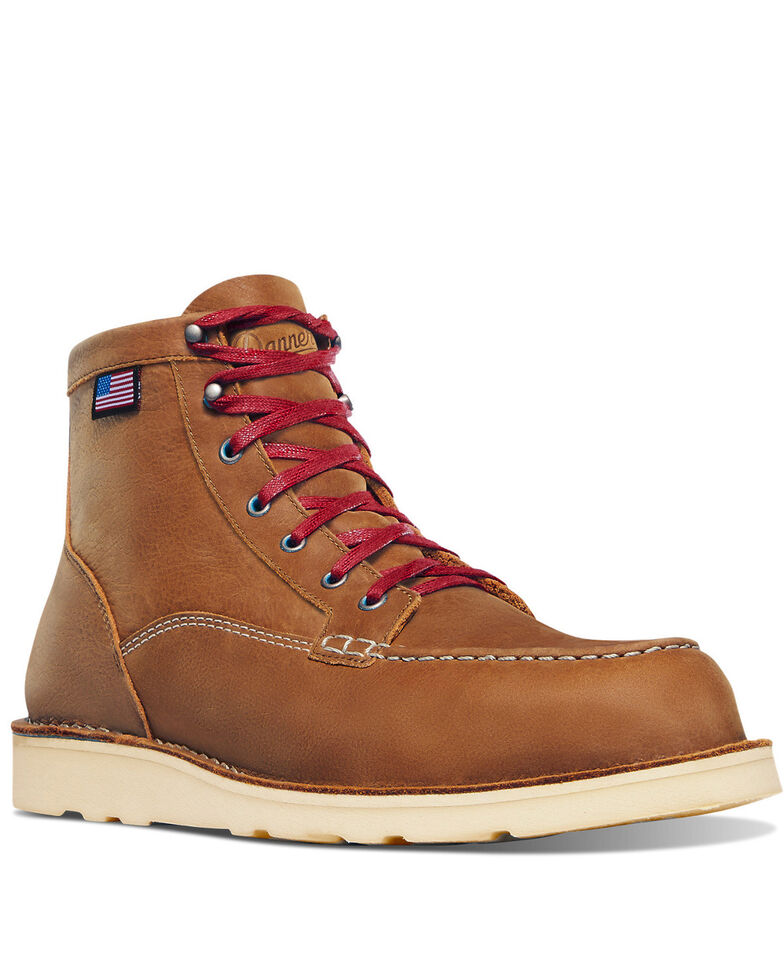 Danner Men's Bull Run Lux Work Boots - Soft Toe, Sand, hi-res