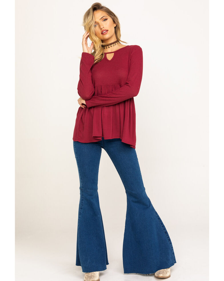 Others Follow Women's Burgundy Sian Top, Burgundy, hi-res