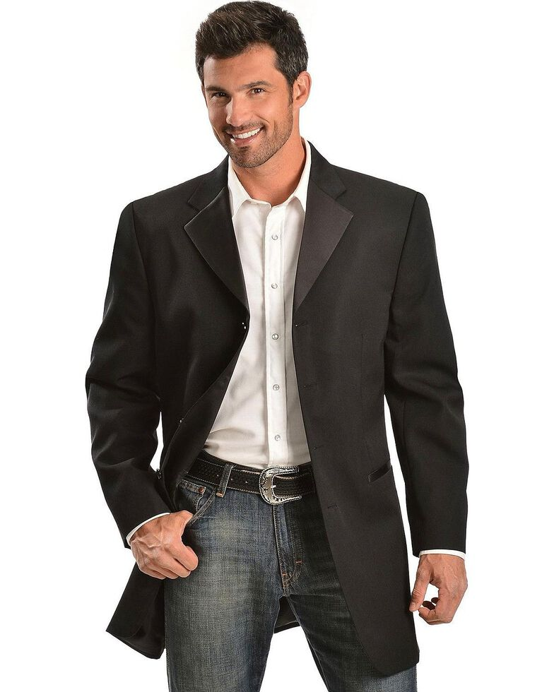 Circle S Men's Tuxedo Sport Coat - Big , Black, hi-res