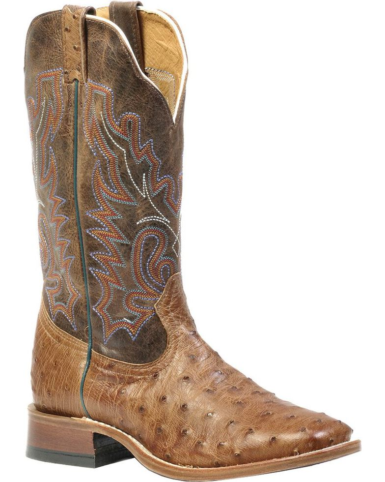 "Boulet Men's Double Stitch Roper 14"" Western Boots, Wood, hi-res"