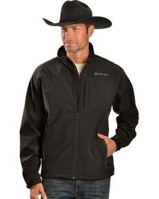 Ariat Men's Wind and Water Resistant Jacket, Black, hi-res