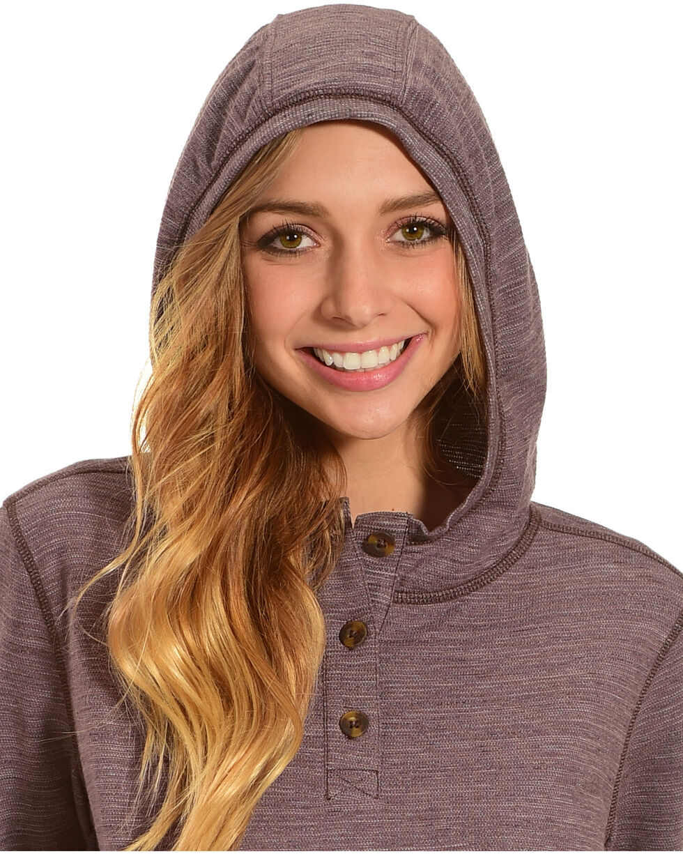 Carhartt Women's Cream Norwalk Hoodie Shirt Jacket, Medium Purple, hi-res