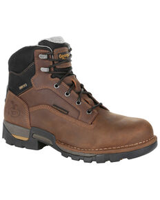 Georgia Boot Men's Eagle One Waterproof Work Boots - Steel Toe, Brown, hi-res