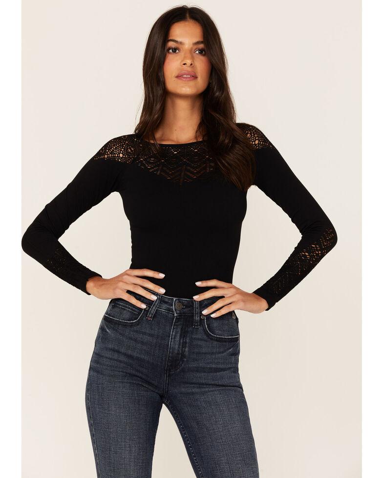 Idyllwind Women's Mallory St. Seamless Long Sleeve Top  , Black, hi-res