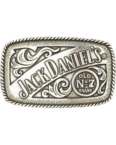 Western Express Men's Silver Jack Daniels Old No. 7 Belt Buckle , Silver, hi-res